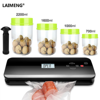 LAIMENG FullyAutomatic Vacuum Food Sealer Sous Vide Cooking Food Grade Canister Vacuum Bags Vacuum Packing Packer Machine S223