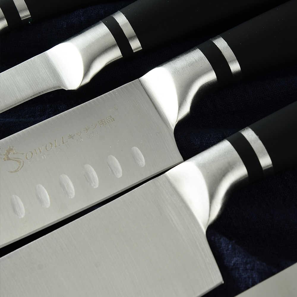 ZINZUO 9 Pcs סופר איכות סכיני מטבח סט 3Cr13 חד נירוסטה להב שף מטבח סכין סט Ultility שף סכיני