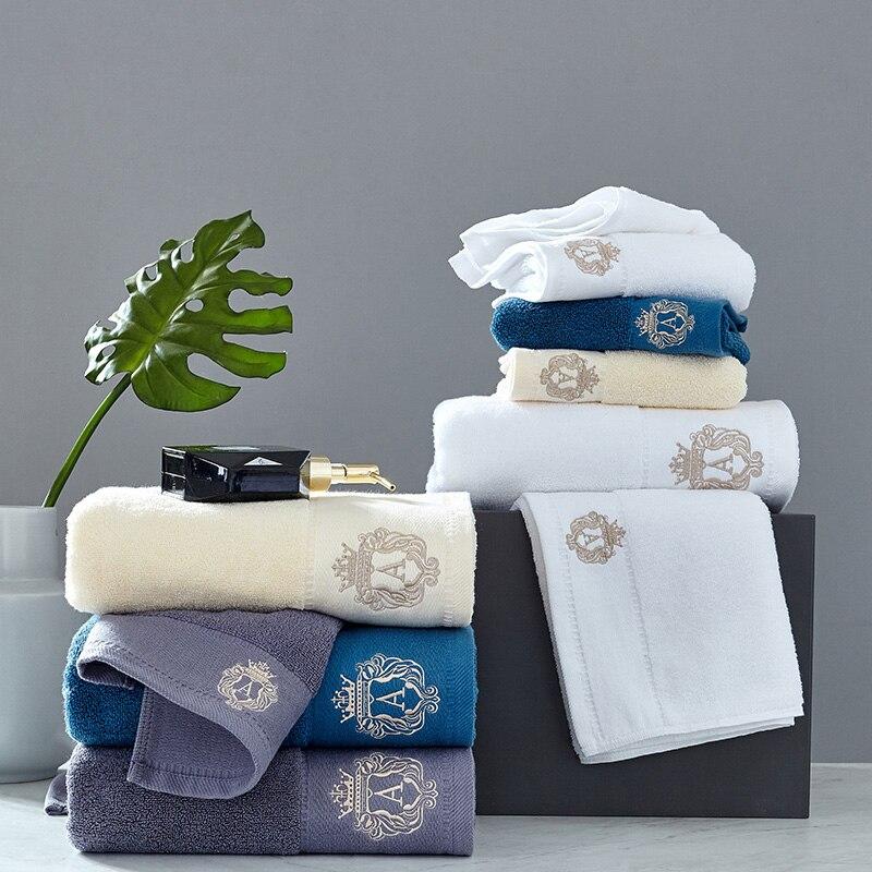 2pcs/set Lace Border Embroidery Face Bath Towel Set Microfiber juegos de toallas super absorbent towels set Wedding Decoration