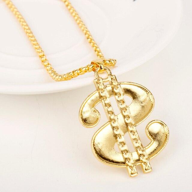 US Dollar Rhinestone Necklace 10