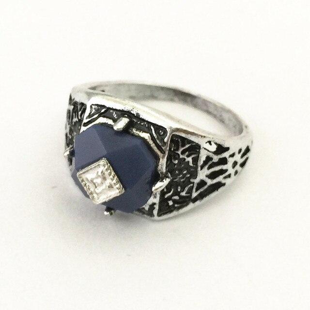 Freeshipping wholesale 20pc a lot  Vampire Diaries caroline Ring Alloy with Blue Semi-precious Stone Vampire Jewelry BB33