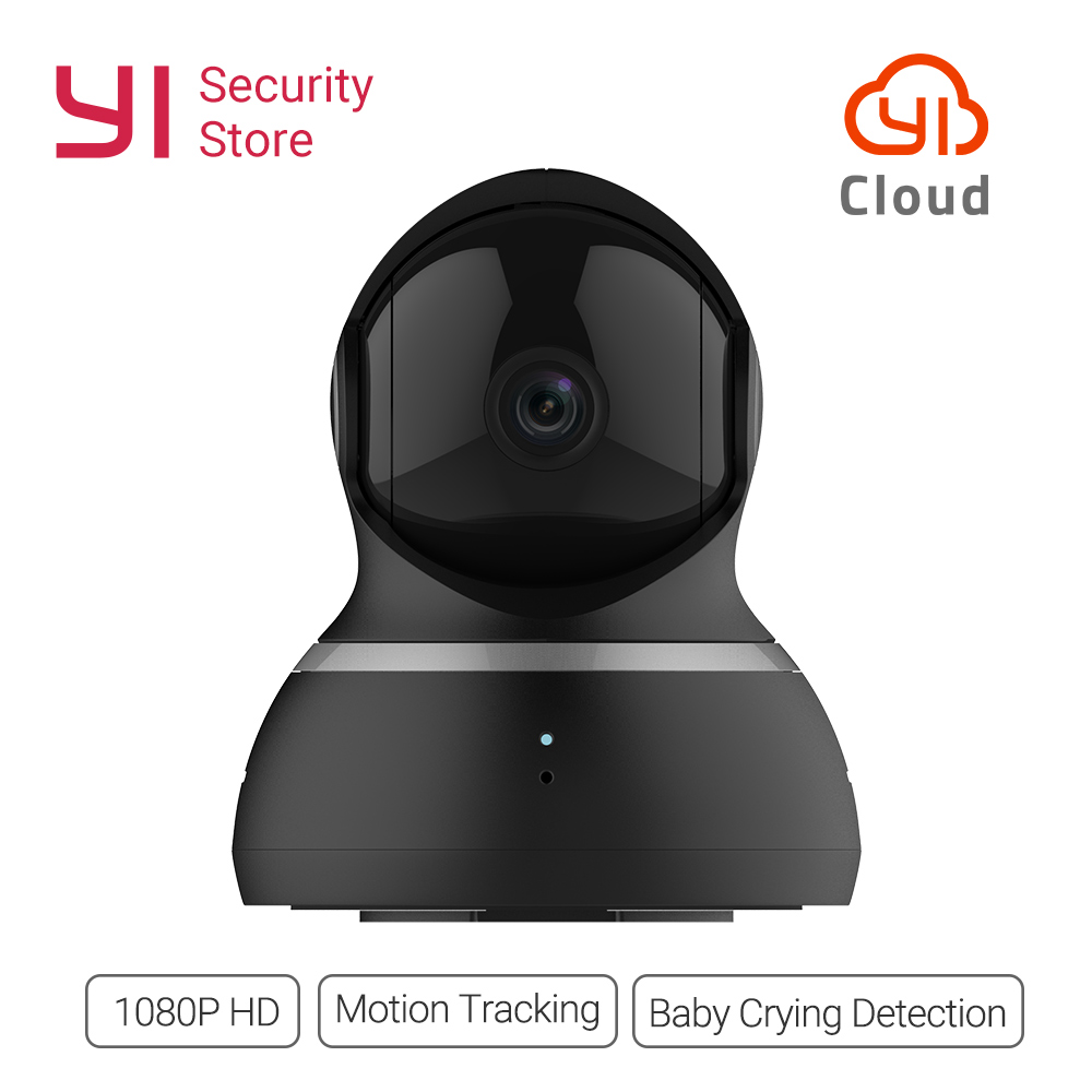 [international edition] xiaomi yi dome camera 1080p fhd 360 degree 112 wide angle pan tilt control two way audio yi dome camera YI Dome Camera 1080P Night Vision Wireless IP Home Security Surveillance System 360 Degree Coverage Pan/Tilt/Zoom Global Version