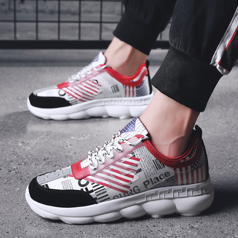 12bf733e68bccc USA Flag Shoes New Design Mens Sneakers Sport Shoes Outdoor Men Walking  Lace-up Shoes Running Shoes for Men Athletic Footwear