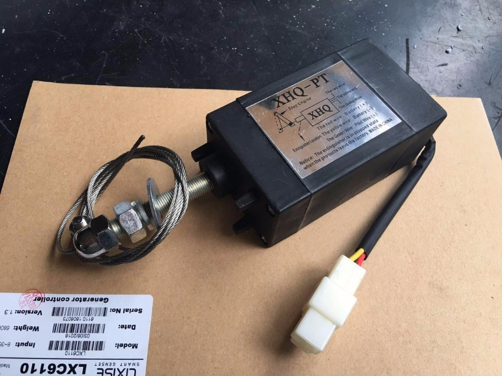 12V/24V stop solenoid for weifang 495/K4100 4102 R4105  R6105 diesel engine and diesel generator parts weifang 495 k4100 r4105 r6105 diesel engine and diesel generator parts 12v 24v stop solenoid for sale