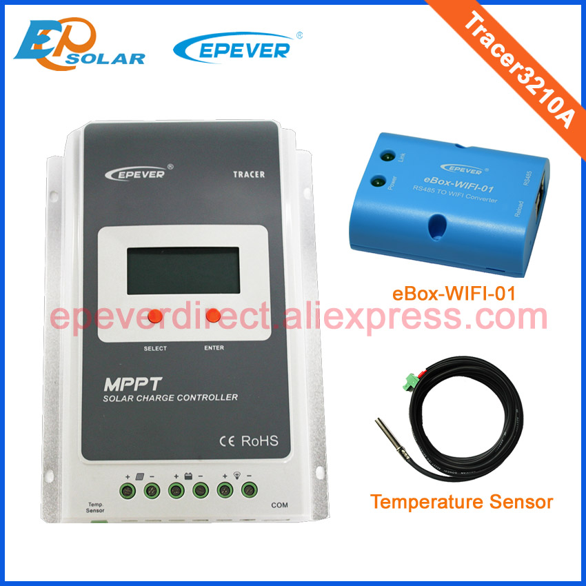 MPPT 30A solar controller Tracer3210A with wifi function and temperature sensor ударная дрель bosch gsb 16 re