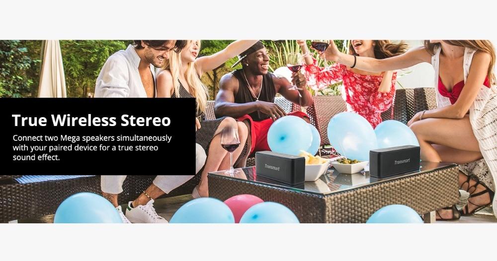 Tronsmart Element Mega Bluetooth Speaker Wireless Speaker 3D Digital Sound TWS 40W Output NFC 20m Portable Speaker MicroSD Card04
