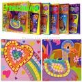 HAPPYXUAN 6 designs/set Kids EVA Mosaic Stickers 3D Art Crafts Puzzle AnimalsTransport  Children's DIY Educational Toy