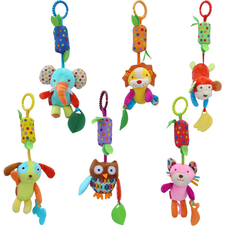 Toys For Children Infant Toys Mobile Baby Plush Toy Bed Wind Chimes Rattles Bell Toy Baby Crib Bed Hanging Bells