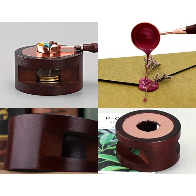Creative Stamp Wax Seal Beads Sticks Warmer Wax Sticks Melting Glue Furnace Tool Stove Pot For Wax Seal Stamp Candle