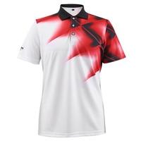 2017 PGM Men's Golf T shirt Golf Apparel Breathable Elastic Golf Short Sleeve Polo Shirt Men Tshirt Printed Tees High Quality