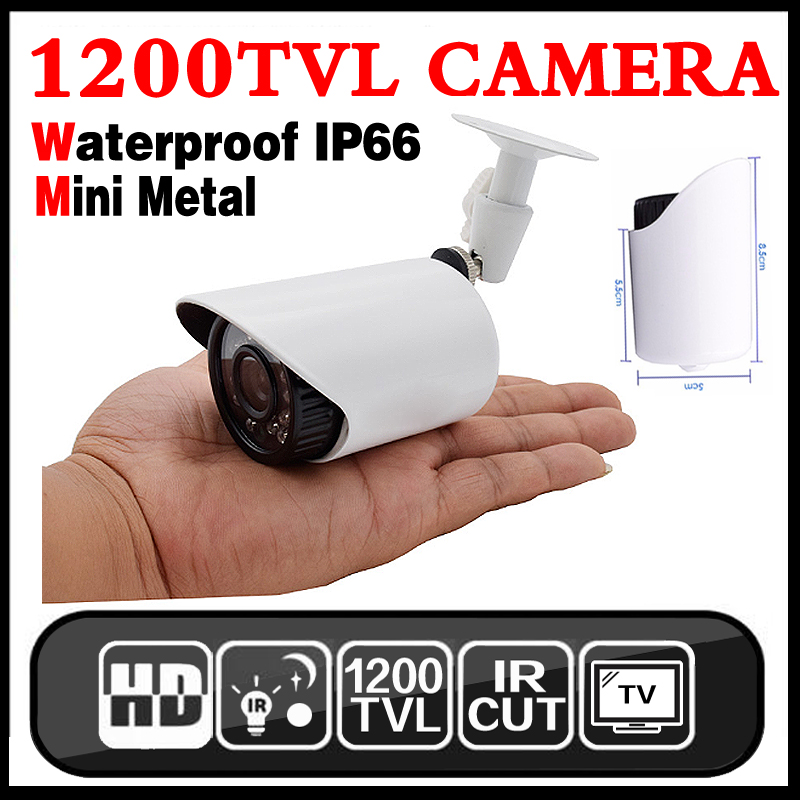 Small Mini Metal 1200TVL CCTV Security Surveillance HD Camera IR-CUT infrared Night Vision Metal Waterproof IP66 Color home cam small mini metal 1200tvl cctv security surveillance hd camera ir cut infrared night vision metal waterproof ip66 color home cam