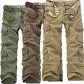 2015 New Pants Mens Casual Militar Do Exército Cargo Camo calças Combater o Trabalho Calças