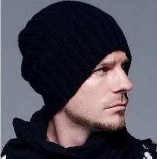 bfbf2a9ca4940 Beckham Winter Bald Hair knitted hat fashion Korean men s winter wool  alopecia cap Unisex Winter hats