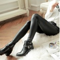 2015 women's trousers autumn slim faux leather pants ankle length legging trousers skinny pants pu pants female JX258