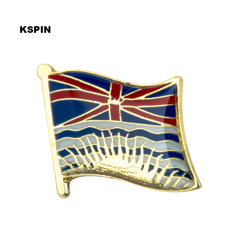୧ʕ ʔ୨COLUMBIA Británica bandera insignia pin de solapa 100 piezas ...