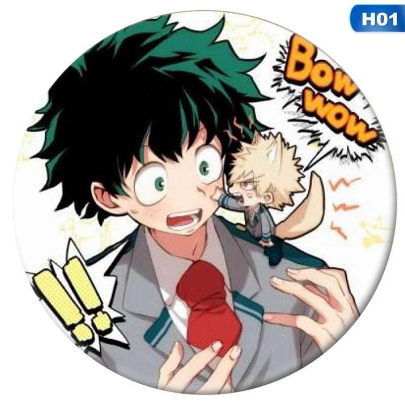 1 ピースアニメ私のヒーロー学界コスプレバッジ漫画僕なしヒーロー学界ブローチピン Izuku コレクションバッグバッジバックパック