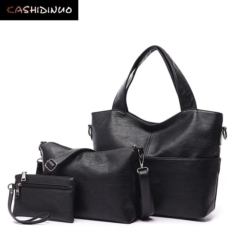 KASHIDINUO Brand Vintage Handbags Women Messenger Bags Female Purse Solid Should