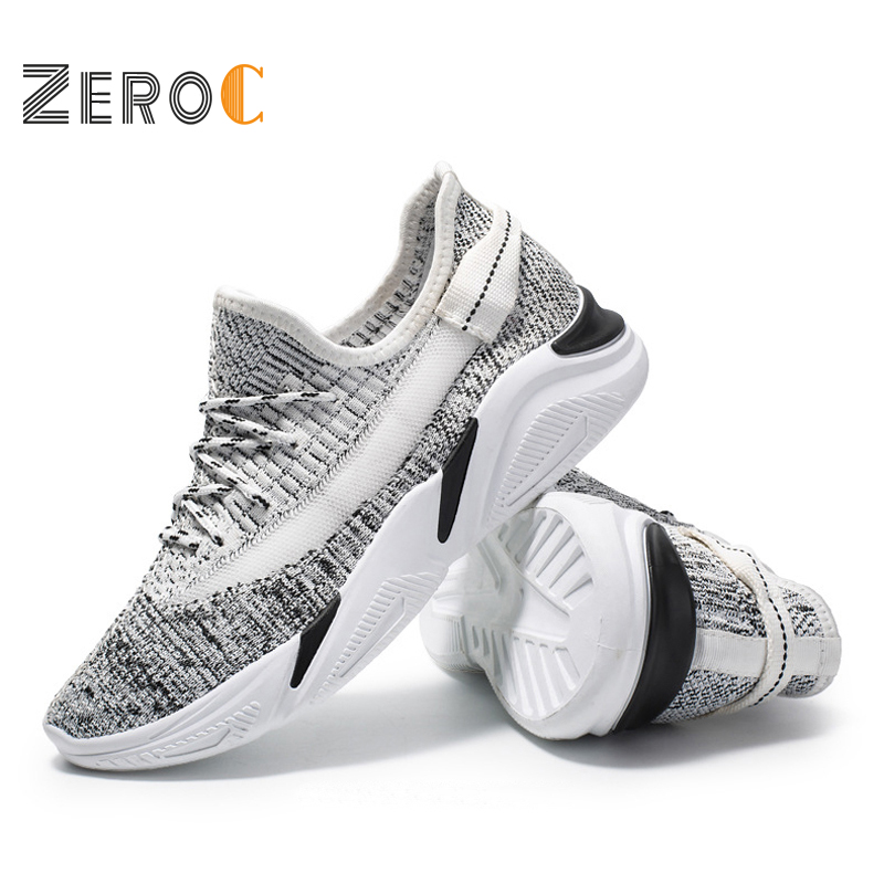 ZeroC 2019 New Breathable Running Shoes for Men High-tech Sneakers Drop Marathon Running Super Light outsole sneakers