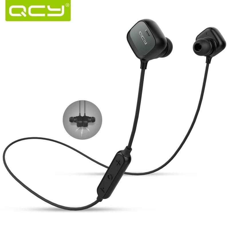 Original QCY QY12 Bluetooth 4 1 Wireless Headphones Smart Headphones Microphone Sport Earbuds for xiaomi iphone