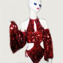 Для подиума пикантные женские Вечеринка платье ballrooom костюм Костюмы Хэллоуин производительность DJ певица танец костюм этап наряд