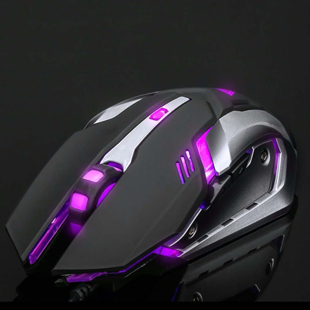 Professional Wired Gaming Mouse with 6 Button&Metal Baseplate Photoelectric Resolution Adjustable LED Light Drop Shipping