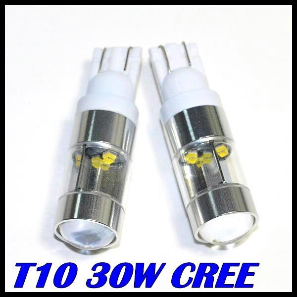 2pcs/lot Super Brightness White light t10 30W CREE chip led T10 194 W5W  LED Bulbs for Car Back Up Backup carprie super drop ship new 2 x canbus error free white t10 5 smd 5050 w5w 194 16 interior led bulbs mar713
