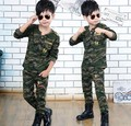 2017 Autumn Children's Clothing Sets Kids Camouflage Uniforms 2 Pcs Boys Casual Long-Sleeved Tracksuit Twinset Sports Suit G223