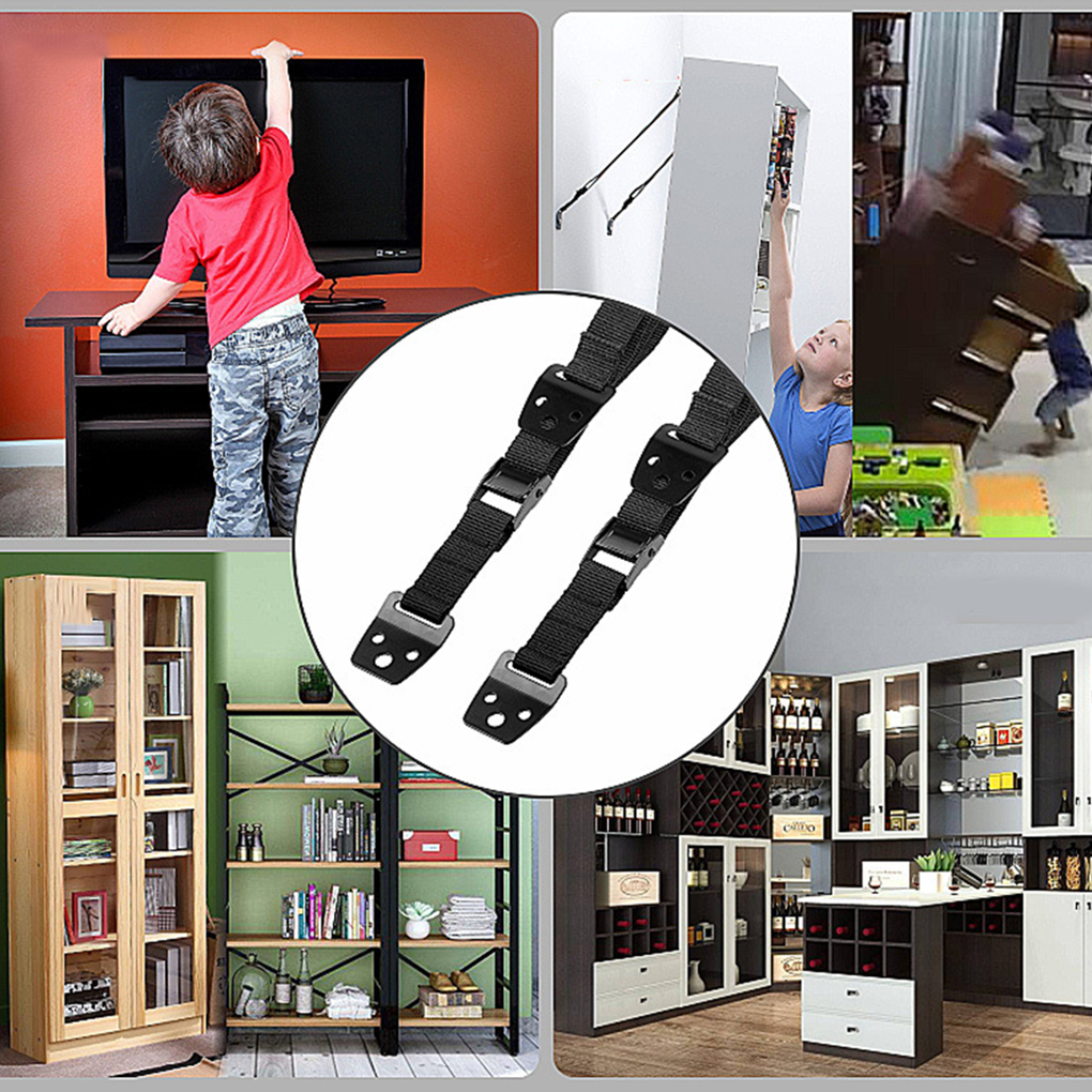 2pcs/lot Baby Safety Anti-Tip Straps Flat TV Furniture Fridge Cabinet Child Protection Security Belt