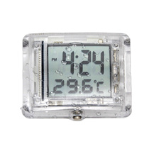 Motorcycle Luminous Vehincal Waterproof Digital Clock Watch w/Temperature  moto horloge Motorbike Accessories
