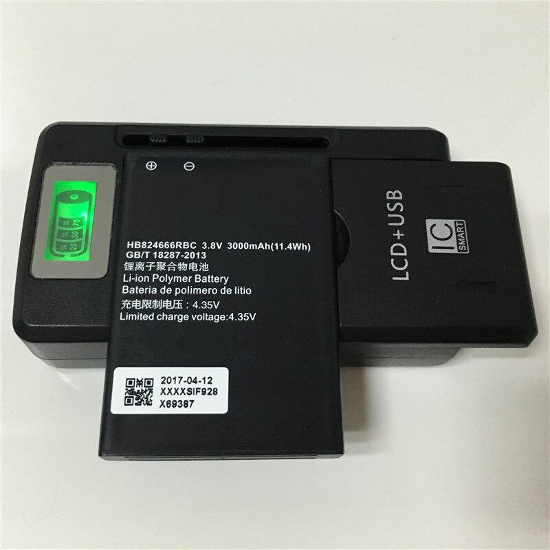 imágenes para 3.8 V 3000 mAh Batería + YIBOYUAN SS-8 HB824666RBC Para Huawei E5577 Pantalla LCD Cargador Universal