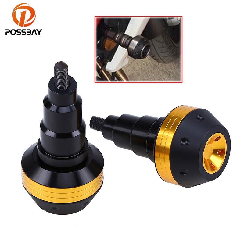 POSSBAY 2pcs Gold Motorcycle Frame Slider Anti Crash Protection Dirt Bike For Honda CBR600RR 2003-2006 CBR600 F2/F3 Aprilia KTM