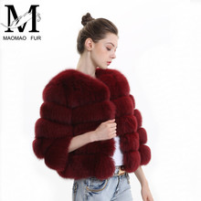 MAOMAO FUR M Real Fox Fur Coats for Women Warm Natural Winter Fur Jacket Fur Coats