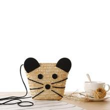Sommer Neue Stroh Stricken Maus Lady Umhängetasche Mode-Designer Umhängetaschen für Frauen Kleine Strandtaschen Dame Kupplungen T391