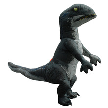 Cosplay Costumes 2019 Halloween Jurassic Dinosaur Raptor Inflatable Clothing Tyrannosaurus Cartoon Dolls Props Adult cosplay halloween party game adult children inflatable suit tyrannosaurus rex dinosaur inflatable clothes show props