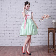 Traditional Korean Hanbok Dress Female National Costume Short Sleeve Oriantal Costume Hanbok Ancient Cosplay Clothing