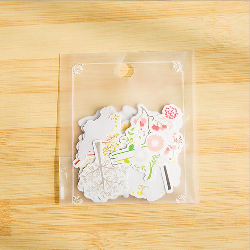 Купить с кэшбэком 1X bag Heaviness Kawaii Flower stickers DIY decoration Stickers Cute Diary Decoration Scrapbooking diy seal Sticker Stationery