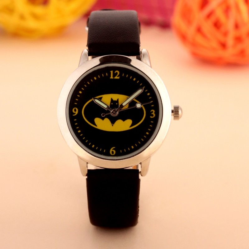 Batman Children Fashion Watches Quartz Wristwatches Waterproof Jelly Kids Clock Boys Girls Students Watch Relogio Kol Saati(China)