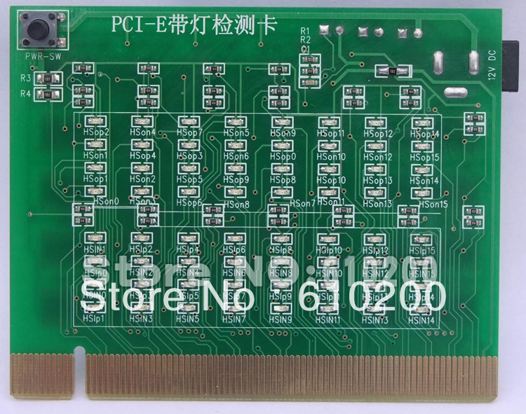 PCI-E 16X 8X 4X PCI Express Slot Tester Card For Motherbaor Detect The Southbridge Short Or Open PCI-E With Light Tester