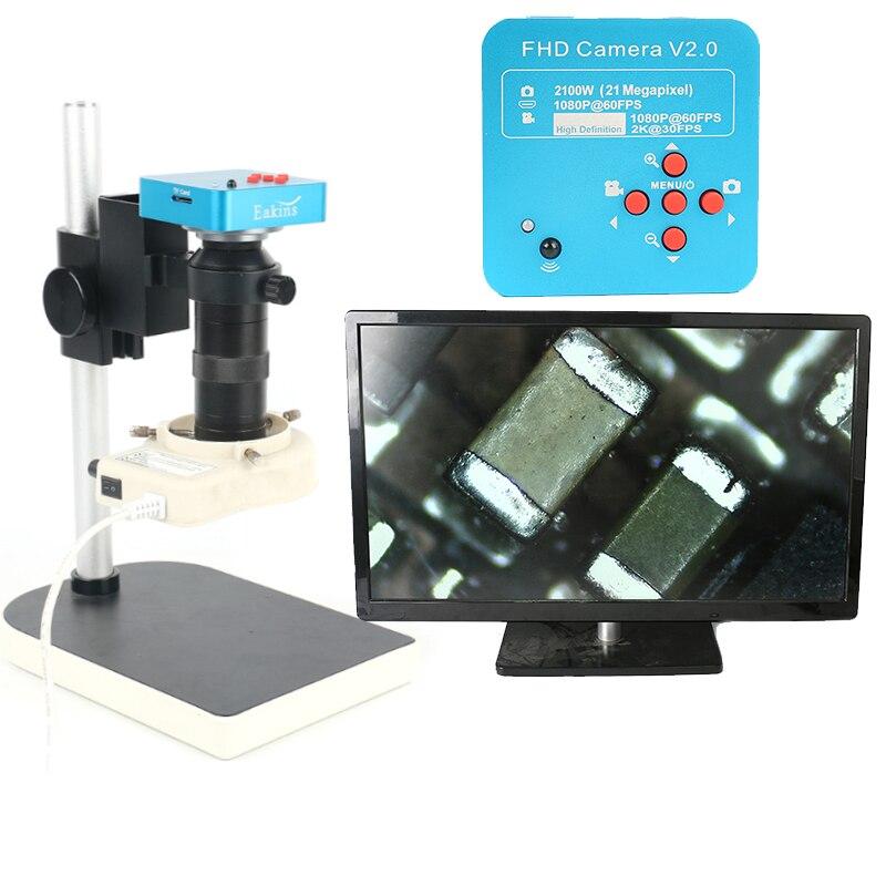 HDMI USB 21MP 1080 p 60FPS 2 karat TF Video Recorder 100X Video Elektronische Reparatur Mikroskop Kamera Für Labor PCB IC CPU Löten