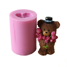 Nicole Silicone Soap Candle Mold 3D Bear Shape DIY Handmade Mould Craft Chocolate Resin Clay Decorating Tool