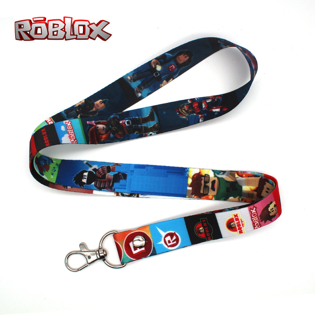 US $1 99 |Game Roblox Lanyard Rock Band Symbol Phone Rope Strap Charm  Lariat Lanyard Keychain+ID Credit Card Protector Case Cover Sleeve on