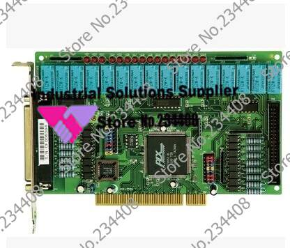16 relay outputs and isolated digital input card PCI-16P16R RE V.2 100% tested perfect quality