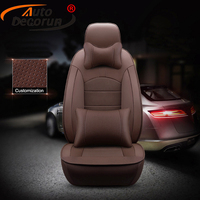 AutoDecorun Custom Cowhide Leather Car Seat Covers for Renault Scenic 2 3 1 Car Accessories Seat Cover Sets 5 & 7 Seats Supports