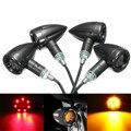 4 pcs Universal Motos LED Turn Signal Indicadores luz de Freio Traseiro Lâmpada Running