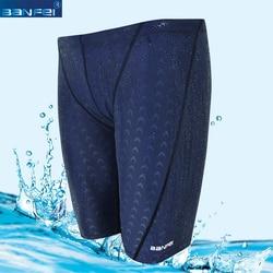 Banfei professional swimming shorts men waterproof competition swim trunks training suit swimwear pant half to knee.jpg 250x250