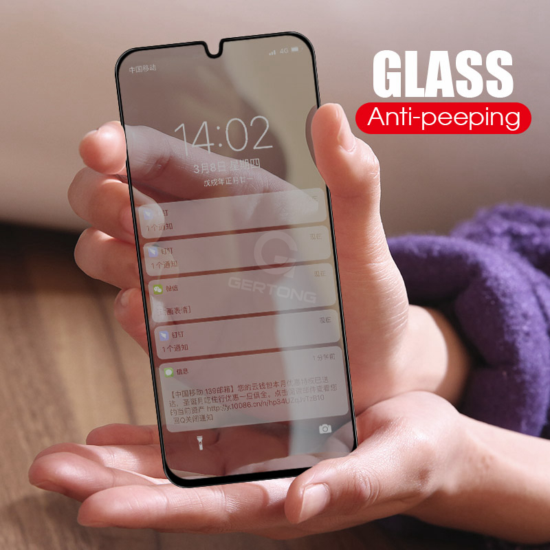 Anti Spy Tempered <font><b>Glass</b></font> For <font><b>Samsung</b></font> A8 A6 Plus <font><b>2018</b></font> A30 A50 M10 M20 For Galaxy J4 J6 Plus <font><b>2018</b></font> Protect Privacy Screen Protector image