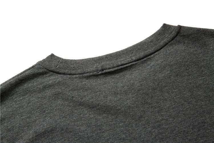 ABOORUN Men's Hip Hop T-shirt Rule Ribbons Decoration Printed Tees High Street Original Loose Short Sleeve Shirts for Male R149 37