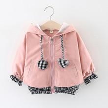 Girls jacket 2019 Spring new baby  cotton overcoat