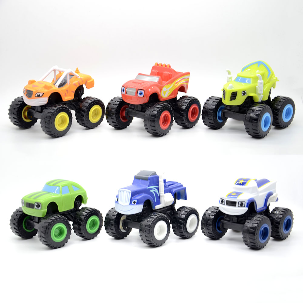 6pcs/lot Russia miracle cars Blaze Toys Vehicle Car Transformation Toys With Original Box Best toys for kids gifts free shipping