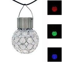 IP44 Solar Power LED Ball Lamp Outdoor Path Landscape Garden Hang Light Lamp Garden Decoration LED Night Light Bulb
